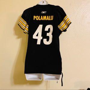 Pittsburgh Steelers Reebok Polamalu #43 Jersey Med